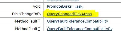 MOB QueryChangedDiskAreas