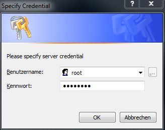 specify credentials