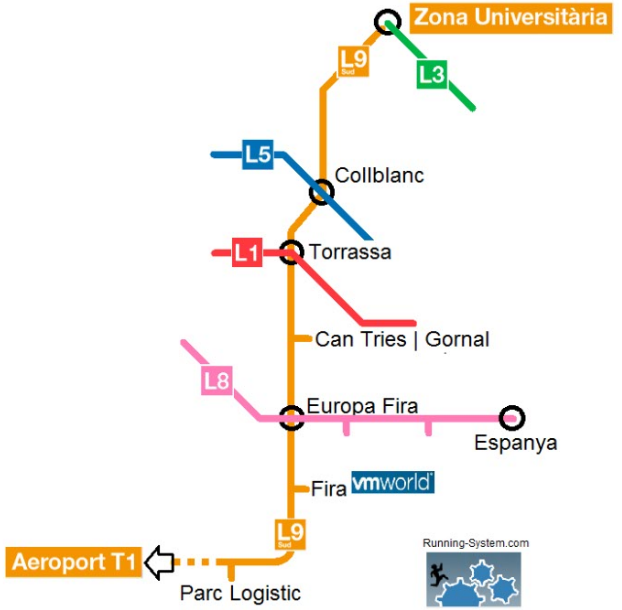 map metro barcelona vmworld