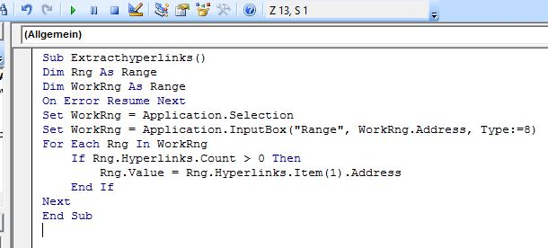 excel knowledge how to extract the address from a hyperlink