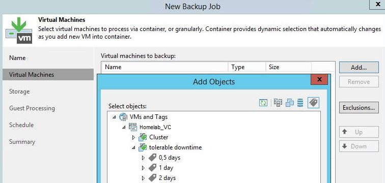 Veeam New Backup Job