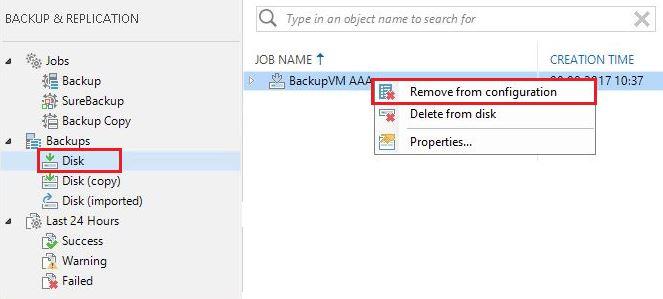 Rename Backup Job Veeam Remove Configuration