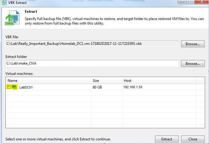 Extract Utility Veeam