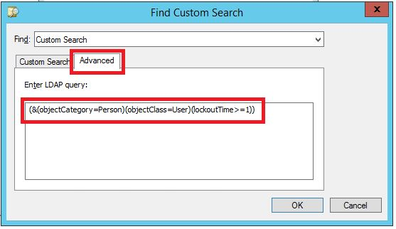 Query find all locked user accounts in active directory